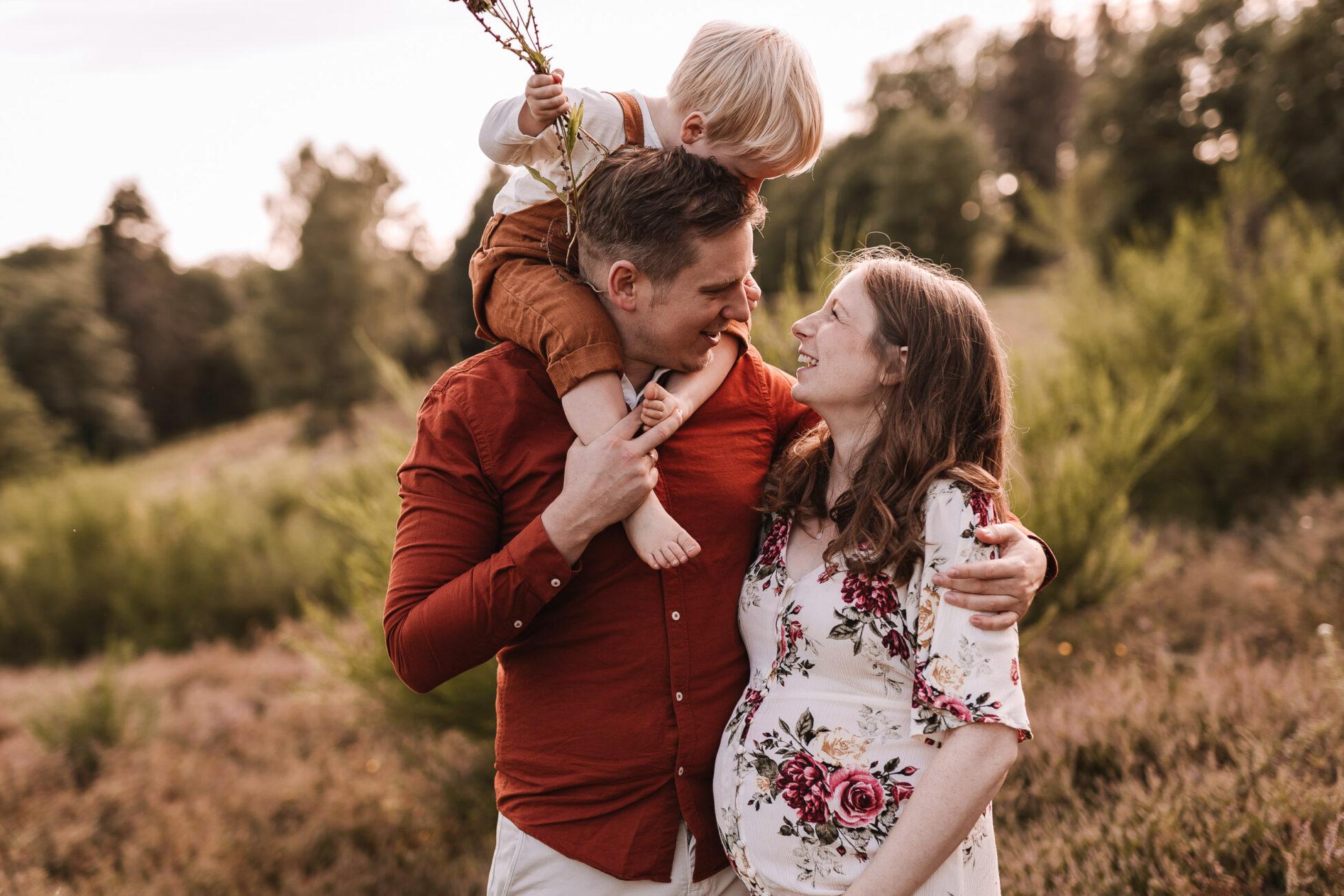 Babybauchbilder mit der Familie